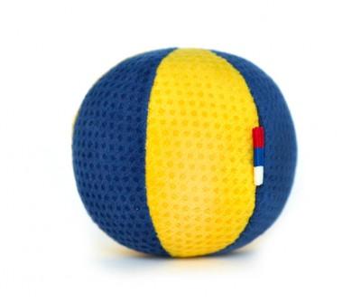 Мячик сине-желтый  | 6 см