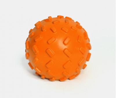 Мячик с отверстием для лакомств, оранжевый | 7 см