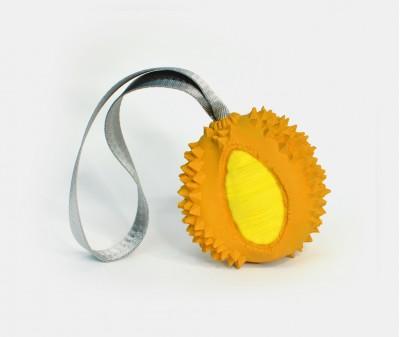 Дуриан (с лентой) -  размер XS, оранжевый | 5,3*5*5,5 см