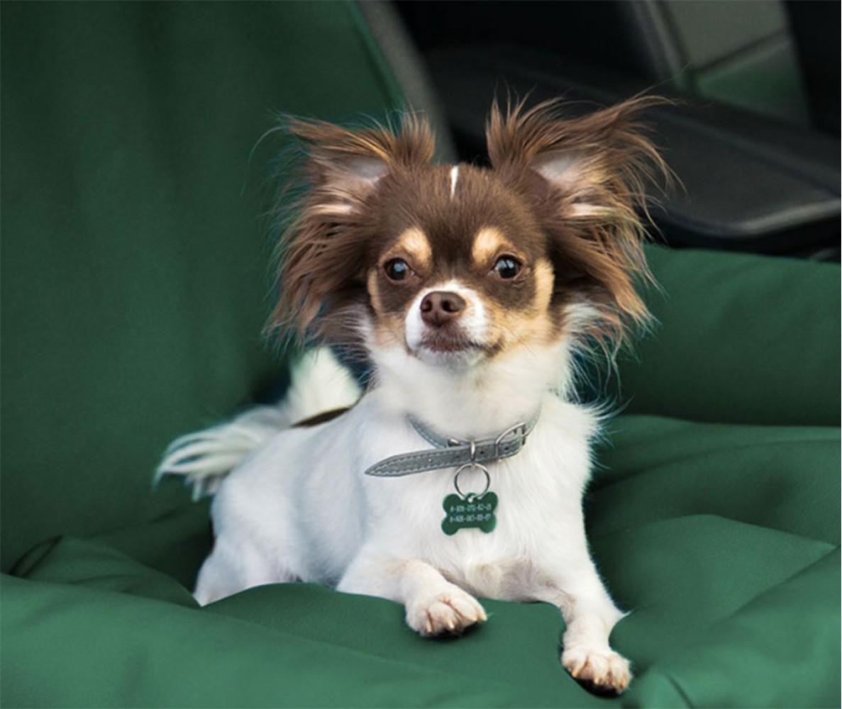 Автокресло для собак | зеленое |  50 x 50 см