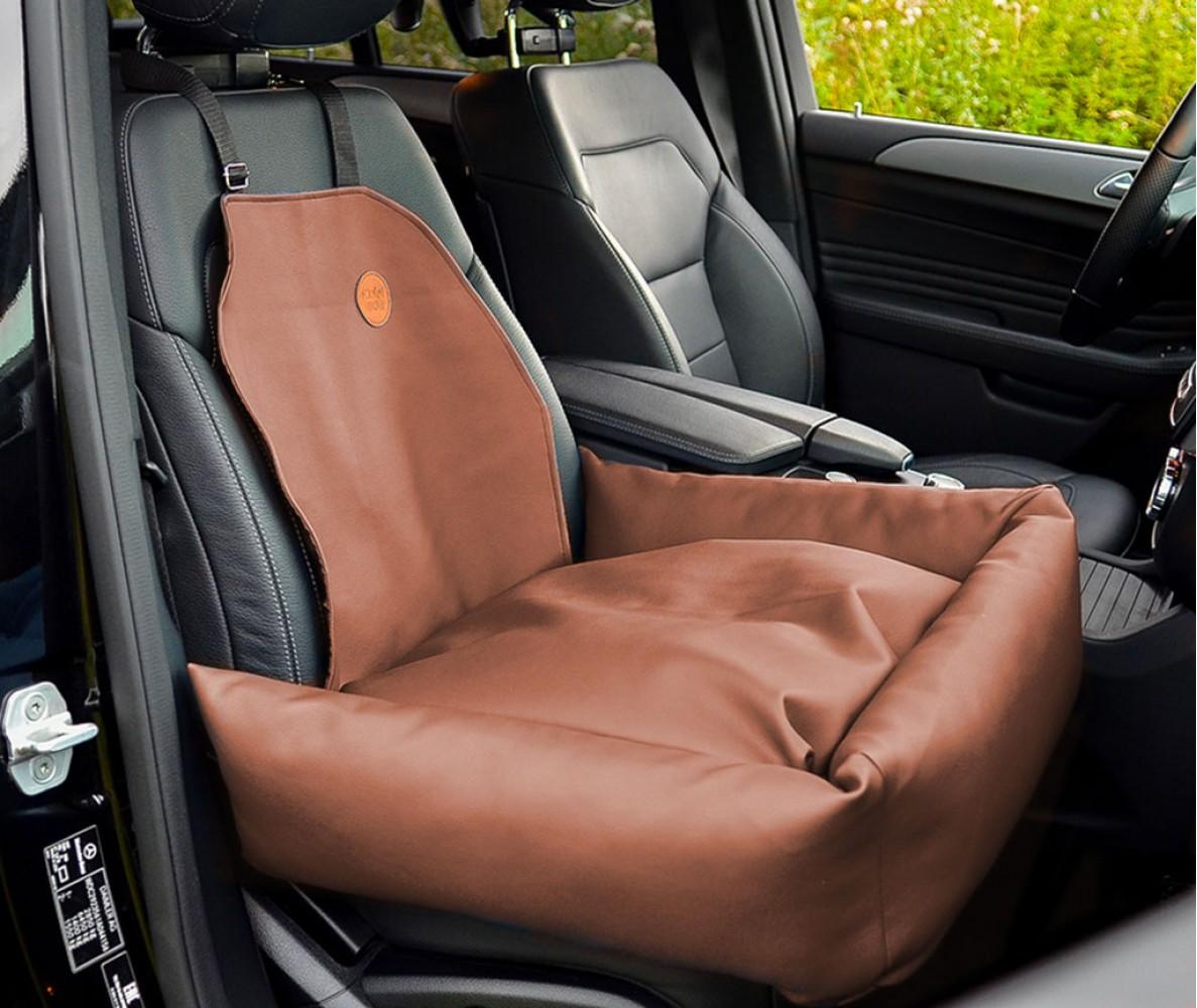 Подушка для шеи на подголовник в машину  | коричневая