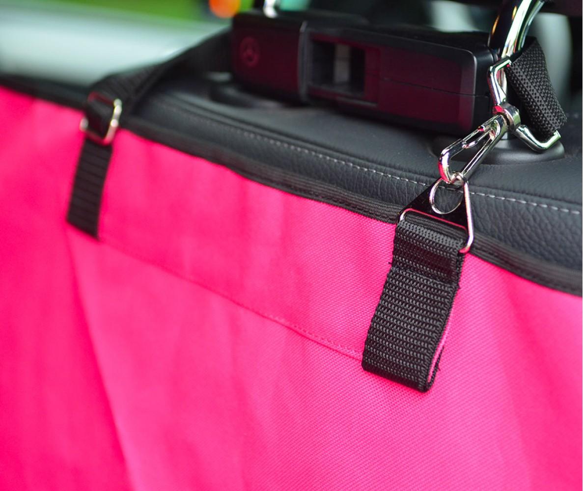 Автогамак трансформер для перевозки собак |  розовый