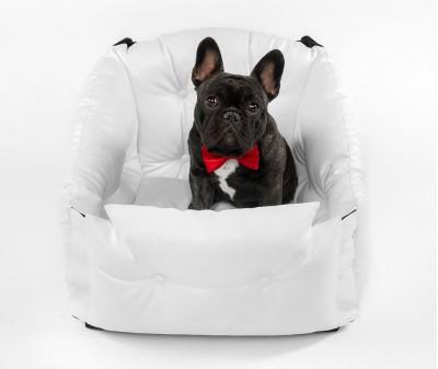 Автокресло для перевозки собак   | белое