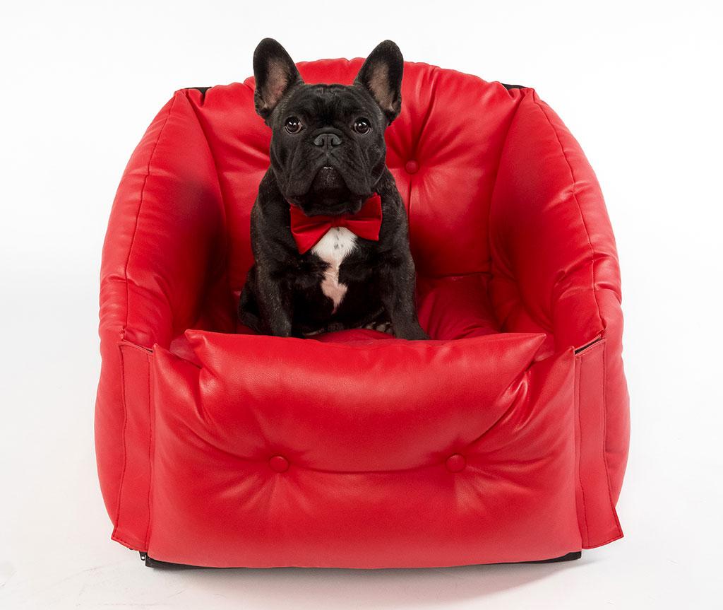 Автокресло для перевозки собак   |  красное  |  50*50*50 см