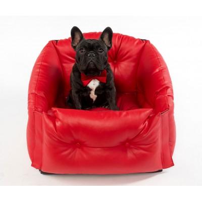 Автокресло для перевозки собак   | красное
