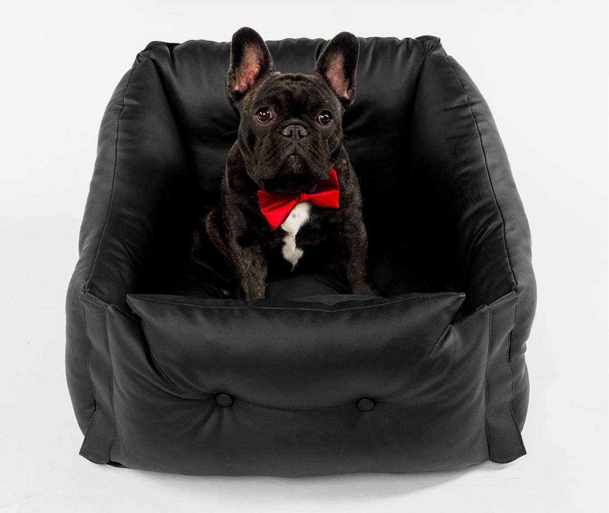 Автокресло для перевозки собак | черное |  50*50*50 см