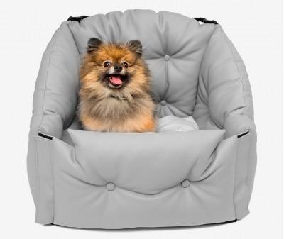 Автокресло для перевозки собак   | серое