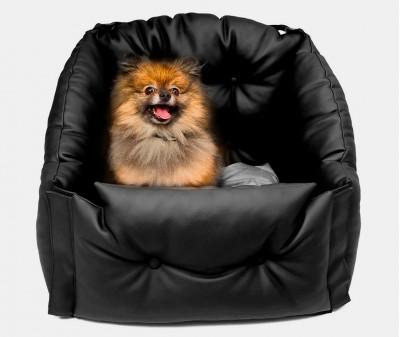 Автокресло для перевозки собак | черное