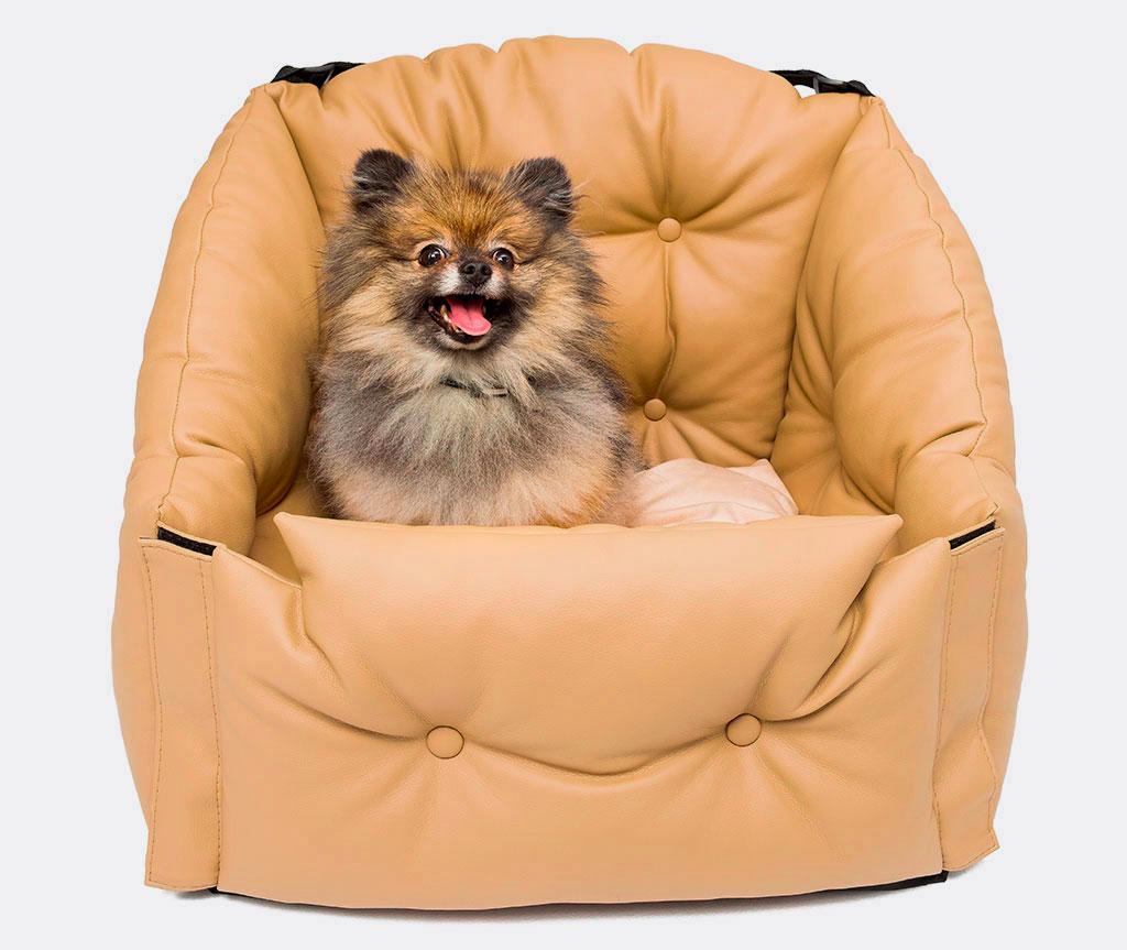 Автокресло для перевозки собак    бежевое    50*50*50 см