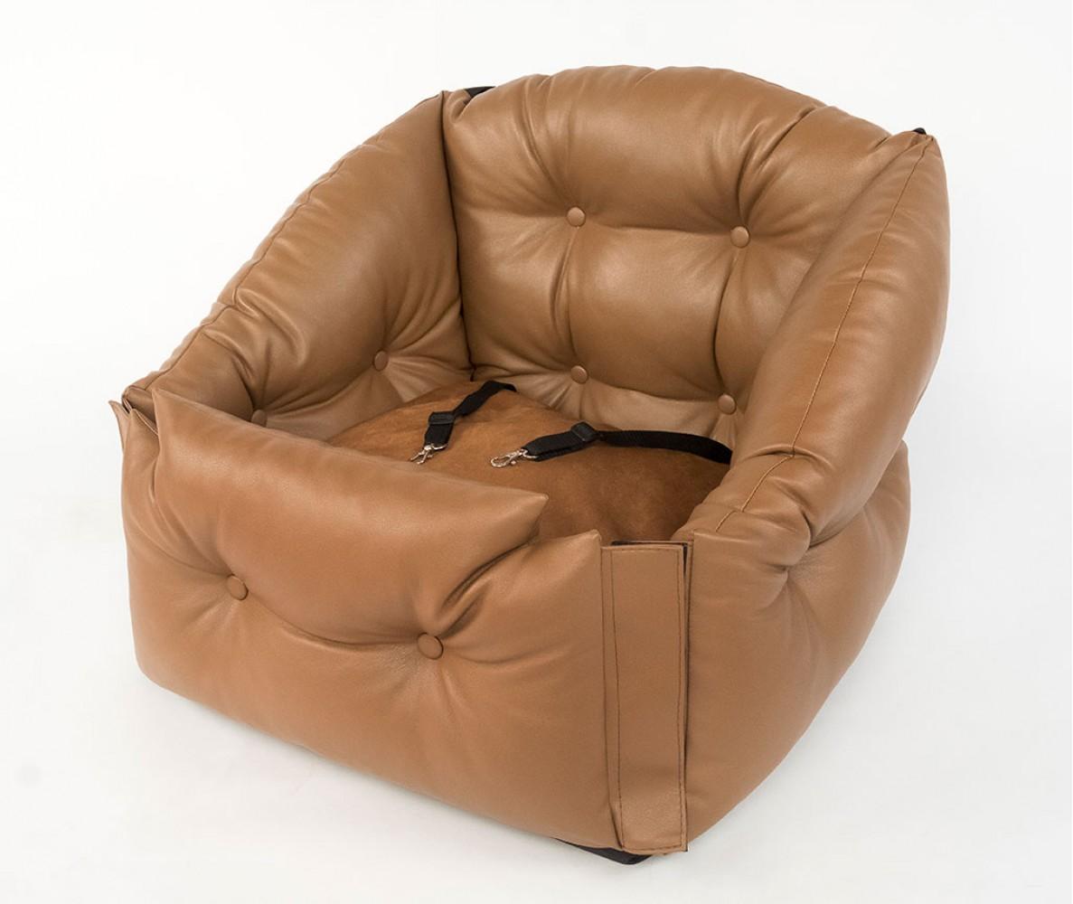 Автокресло для перевозки собак   | коричневое |  50*50*50 см