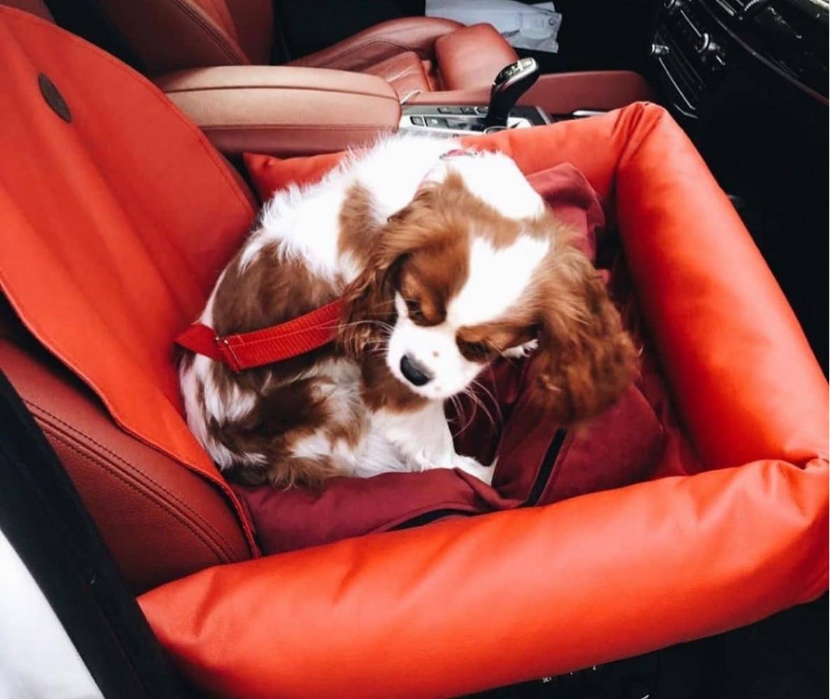 Автокресло для собак   красное    50 x 50 см