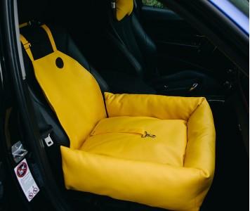Автокресло для собак | желтое |  50...