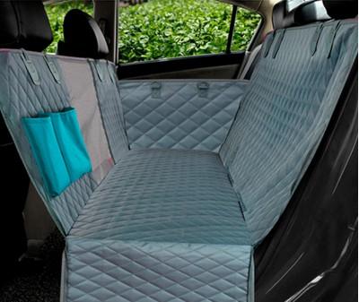 Автогамак для перевозки собак с бортами стеганый 143*152 см |  серый