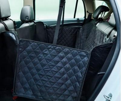Автогамак для перевозки собак с бортами стеганый 143*152 см |  черный