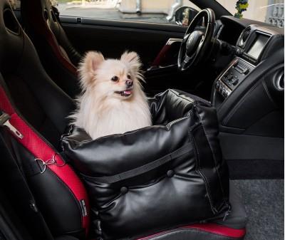 Автокресло переноска для собак | черное