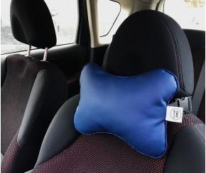 Подушка для шеи в машину  | синяя...