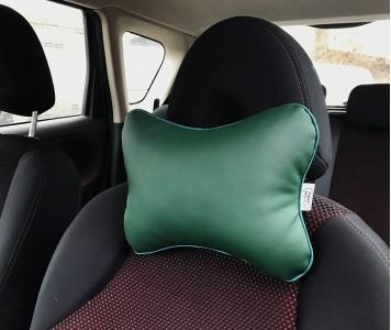 Подушка для шеи в машину  | зеленая...