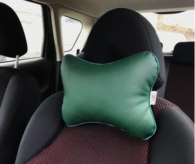 Подушка для шеи в машину  | зеленая