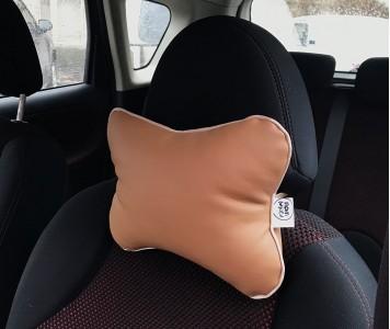 Подушка для шеи в машину  | песочна...