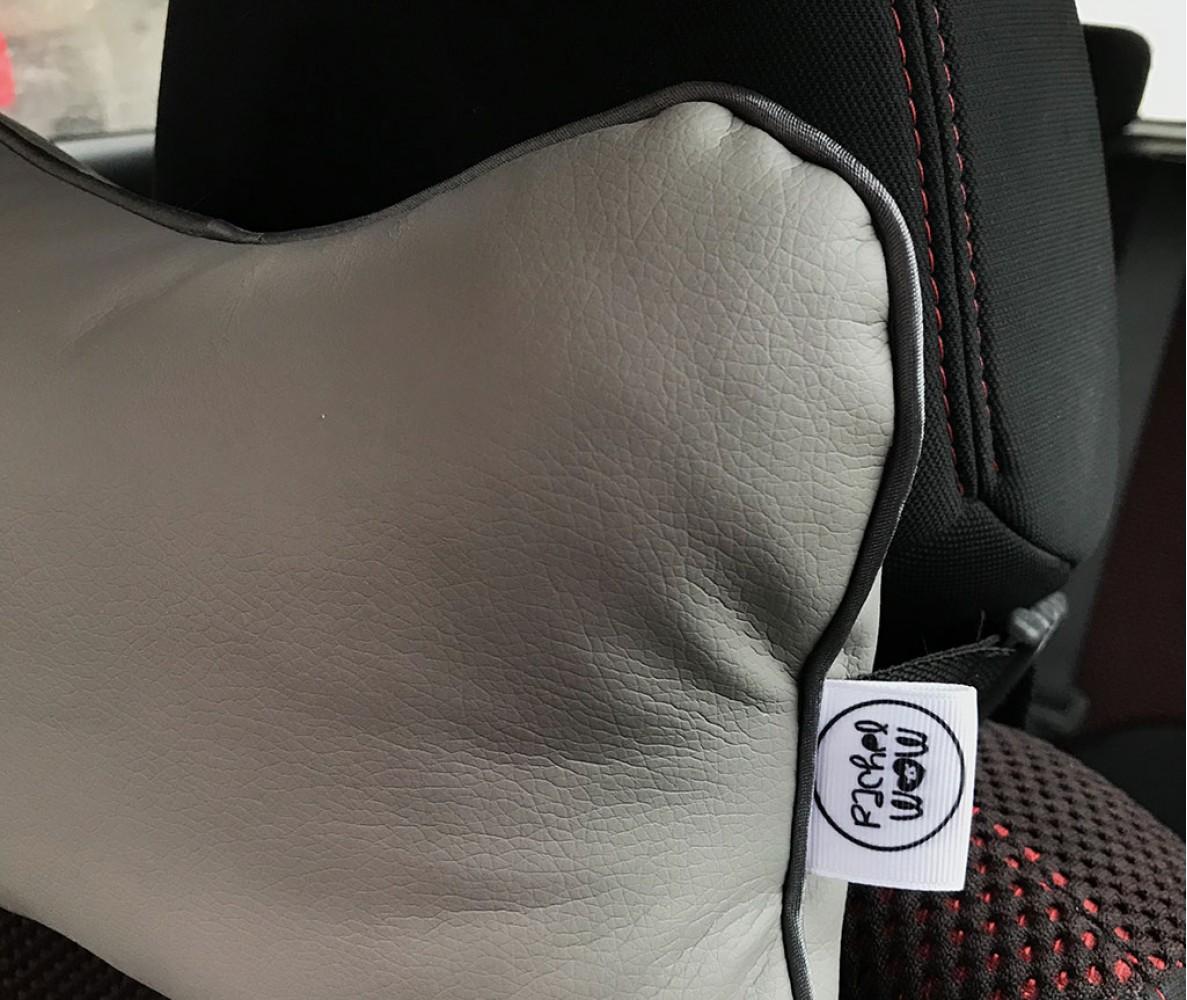 Подушка для шеи на подголовник в машину  | серая