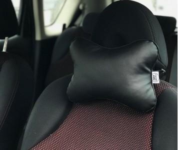 Подушка для шеи в машину  | черная...