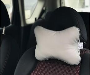 Подушка для шеи в машину  | серая...
