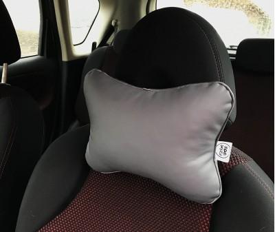 Подушка для шеи в машину  | темно-серая