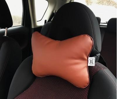 Подушка для шеи в машину  | коричневая