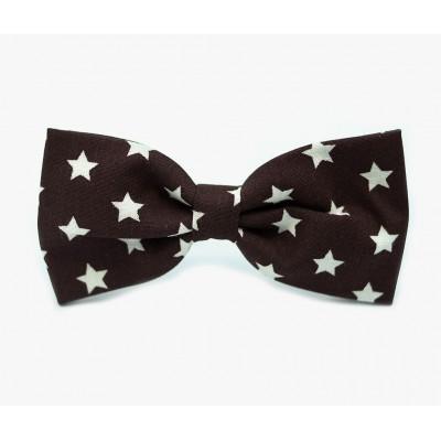 "Бабочка для собак ""Stars Brown"""