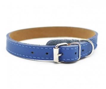 Ошейник кожаный, синий | 25-28 см ...