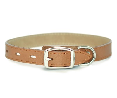 Ошейник кожаный для собак  умбра  | 1,7 см x 30-35 см