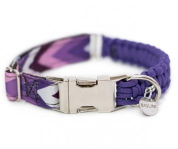 """Ошейник """"FREESIZE""""  фиолетовый зигзаг   2 см   XS - L"""