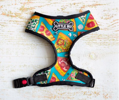 """Шлейка для маленьких собак """"Пицца"""", размеры XS-S"""