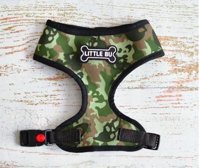 """Шлейка для мелких собак """"Милитари"""", размеры XS-S"""