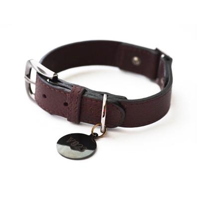 Ошейник для собаки кожаный V823  Браун  |  XS - XL
