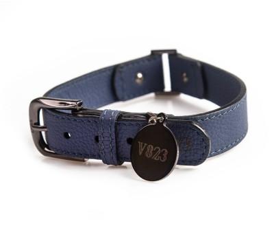 Ошейник для собаки кожаный V823 Синий     XS - XL