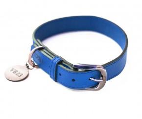 Ошейник для собаки кожаный V823 Индиго  |  XS - XL
