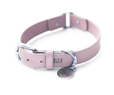 Ошейник для собаки кожаный V823 Пудровый  |  XS - XL