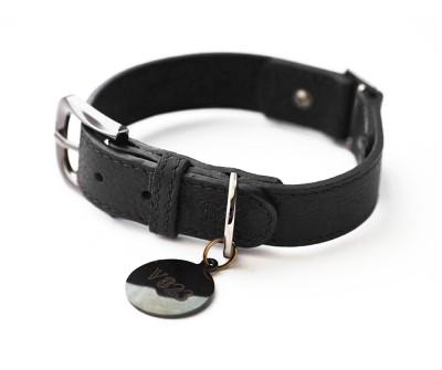Ошейник для собаки кожаный V823  Черный     XS - XL