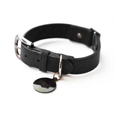 Ошейник для собаки кожаный V823  Черный  |  XS - XL