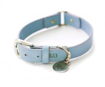Ошейник для собаки кожаный V823 Голубой  |  XS - XL
