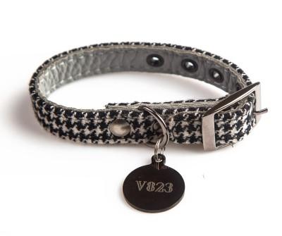 Ошейник для собаки кожаный V823  Гусиные лапки     XS - XL