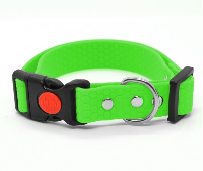 "Ошейник из биотана Dogbe ""Гекса"", зеленый, ширина 20 мм"