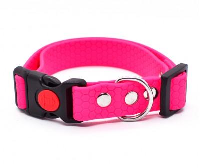 "Ошейник из биотана Dogbe ""Гекса"", розовый, ширина 20 мм"