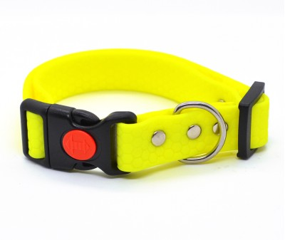 """Ошейник из биотана Dogbe """"Гекса"""", желтый, ширина 20 мм"""