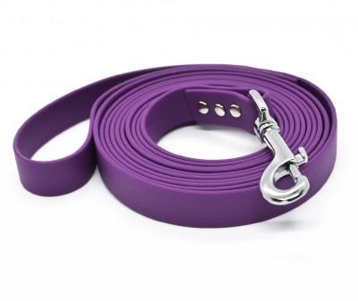 """Поводок из биотана Dogbe """"Локет"""", фиолетовый - 20 мм * 3 м"""