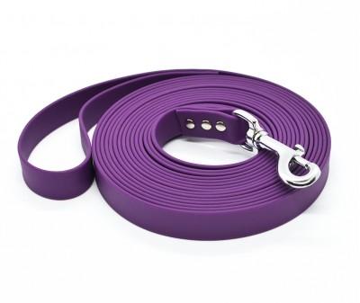 """Поводок из биотана Dogbe """"Локет"""", фиолетовый - 20 мм * 5 м"""