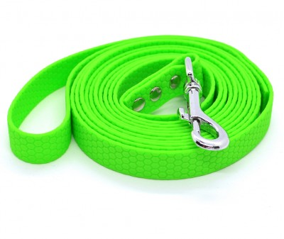 "Поводок из биотана Dogbe ""Гекса"", зеленый - 20 мм * 3 м"