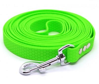 "Поводок из биотана Dogbe ""Гекса"", зеленый - 20 мм * 5 м"