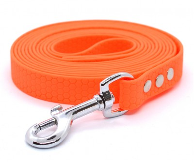"Поводок из биотана Dogbe ""Гекса"", оранжевый - 20 мм * 5 м"